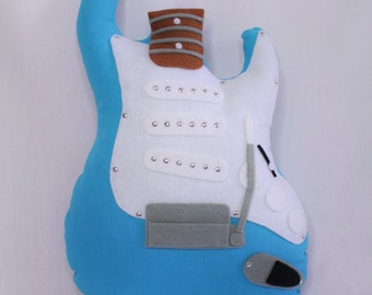 Guitar pillow blue stratocaster Kelthes Mini Guitars