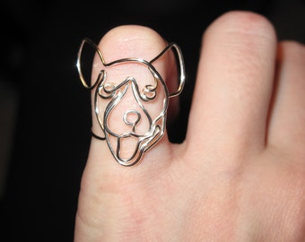 Wire Wrapped Jack Russel Terrier Or Other Dog MADE to ORDER Ring