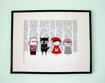 Red Riding Hood And Friends Giclee Print