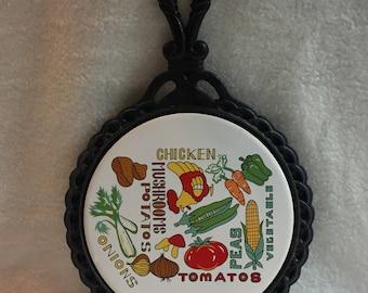 Kitchen Trivet with Vegetable Design (#004)