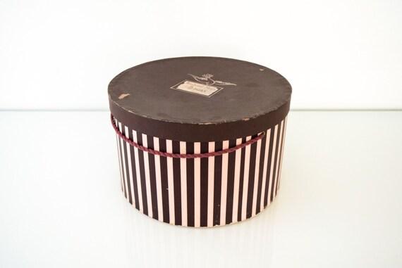 Hat Box Paper Hat Box Hat Storage Box Vintage Pink And