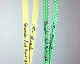 Set of 5 Breakaway Lanyards with Embroidery on Both Sides