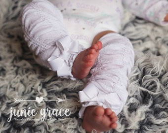 Baby Girl Leg Warmers Baby Girl Clothes Baby Girl Outfit Baby Girl Coming Home Outfit Newborn Baby Girl Leg Warmers with Bows Baby Girl Gift