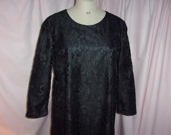 A vintage Black Lace dress