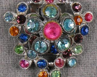 Vintage Multicolored Dress Clip
