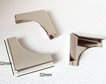No.24 - Big corner Protector for book corner box album 32x32x5mm color silver