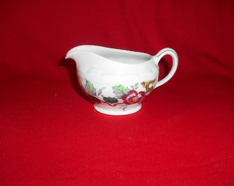"One (1), 3"" Tall, 8 oz. Creamer from Wood & Sons, in the Ashbourne Pattern."