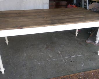 Farmhouse Dining Table with turned legs