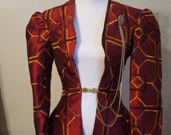 Red Geometric Steampunk Jacket