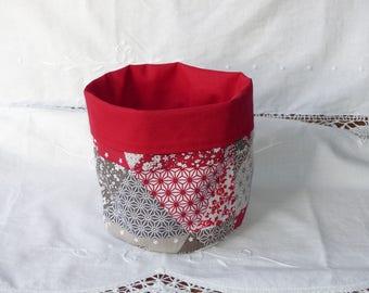 Dominant red reversible storage basket