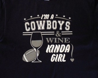 Cowboys and wine t shirt