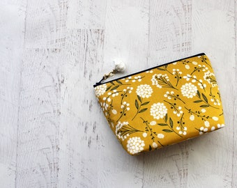makeup bag - cosmetics case - toiletry case - floral pouch - cute make up bag - floral bag - best friends gifts - cosmetics bag