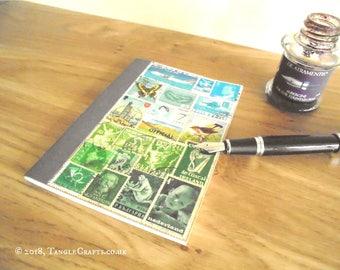 Summer Landscape Bujo • Free Journal Notebook • Original Stamp Art Collage