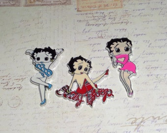 CLEARANCE SALE - Betty Boop Magnets, Refrigerator Locker Magnets, Home Office School Supply, Message Board