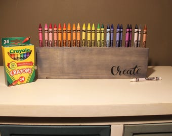 Crayon Holder (Gray) - Crayons - Pencils - Storage - Organization