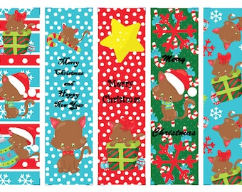 Christmas Cats Book Marks