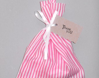 Striped fabric party favour bag - Loot bag