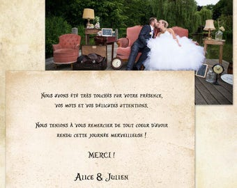 Wedding Thanks - Alice in Wonderland -