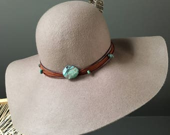 Felt Hat, Boho Hat, Bohemian Hat, Hippie Hat, Cowgirl Couture