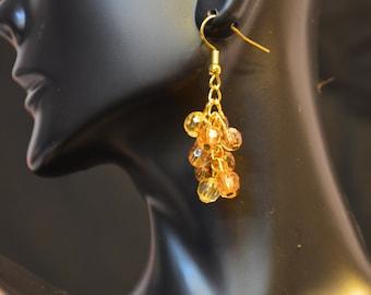 Champagne Cluster Earrings
