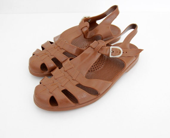 Jelly Sandals Brown 80's Jellies Vintage 7w8xw