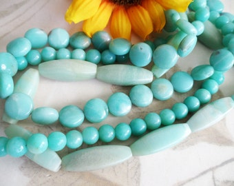 Multistrand Handmade Amazonite Necklace, Natural by maryanstudios