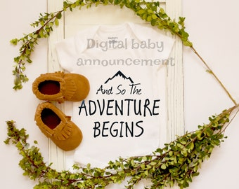 Facebook or Social Media Baby Announcement