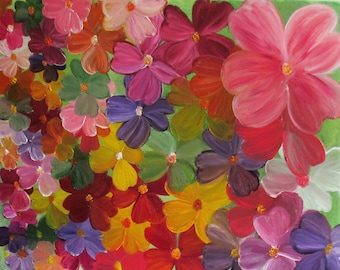 floral painting,modern painting,Mothers day,flower painting
