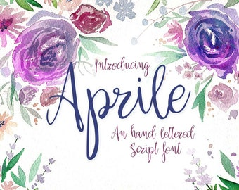 Aprile Font - machine embroidery fonts - font download for embroidery design - calligraphy font - svg font for cricut - wedding font
