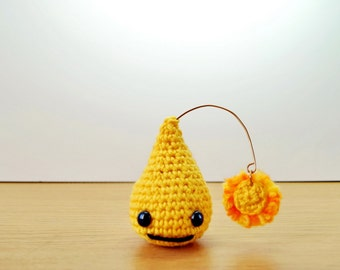 Cute Crochet Happy Drop Plush Charm from the Love Drop Series - Great Gift!