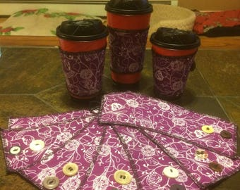 Purple Coffee Sleeve