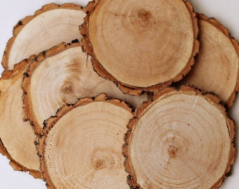 """20 rustic 2.5-3"""" inch wood slices,  willow wood slices, tag supplies, wedding supplies, reclaimed wood slices, wood discs"""