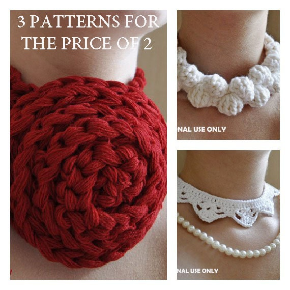 Free Crochet Pattern Crochet Necklace Patterns Buy 2 Get