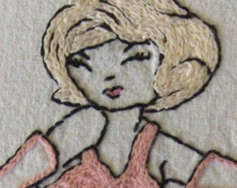 BURLESQUE - Hand Embroidery Pattern PDF