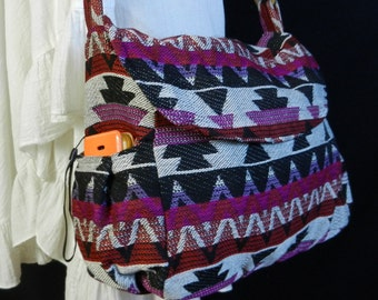 Hippie Hobo Messenger Bag Hmong Camera Purse Handbag Thai Sling Cotton - IKM24