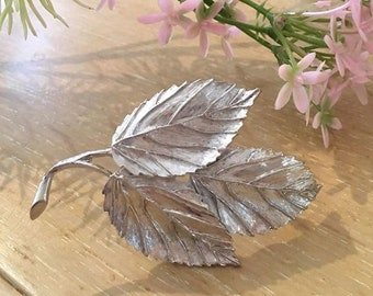 VINTAGE brooch - Autumn leaf