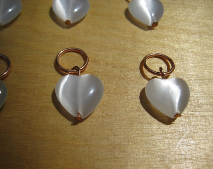 Woolpops Luminous Heart Knitting Stitch Markers