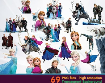 frozen clipart -  Digital 300 DPI PNG Images, Photos, Scrapbook, Cliparts - Instant Download