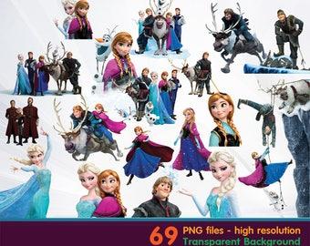 frozen clipart -  Digital 300 DPI PNG Images, Photos, Scrapbook, Cliparts - Instant Download