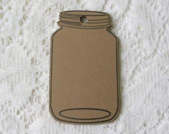 Einmachglas Tags – 3,5 Zoll großen Einmachglas Tags – Verpackung Tags – leere Geschenkanhänger – rustikale Geschenk Tags – DIY Tags - hausgemachte Geschenk
