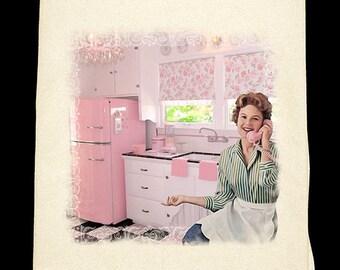 Classic Kitchen - Pink Flour Sack Towel