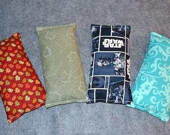 Heating Pad, Ice Pack, Microwaveable Corn Heat Bag, Sinus Pressure - One Eye Pillow
