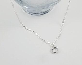 April Birthstone Necklace, Crystal Birthstone Necklace, Sterling Silver Birthstone Necklace, April Birthday Gift, April Birthday Jewelry