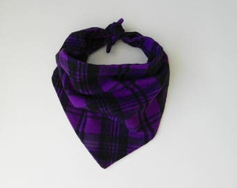 Purple Plaid Bandana