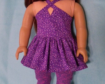 18 inch Doll Sleeveless Summer Dress with Optional Sandals