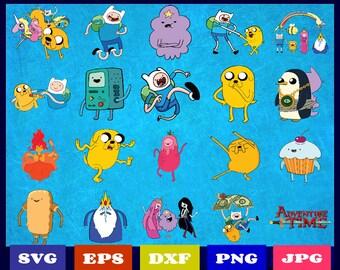 20 Adventure Time Clipart | Adventure Time Svg | Adventure Awaits Svg | Adventure Time Vector | Finn And Jake | Princess Bubblegum | Decal
