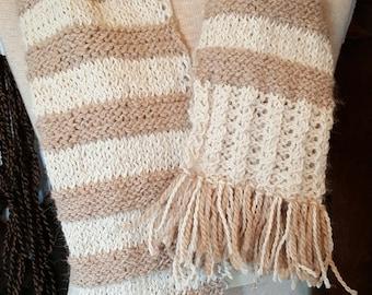 Hand Knit Alpaca Scarf Wrap