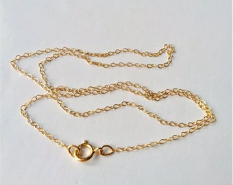 Gold Fillved Chain Necklace, Gold Choker,  Layering Necklace, Dainty Chain, Dainty Necklace, Minimalist Style, Thin Gold Chain.