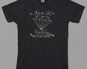 Pink Floyd inspired T Shirt, Shine On you Crazy Diamond, the wall syd barrett david gilmour roger waters dark side moon Graphic Tee