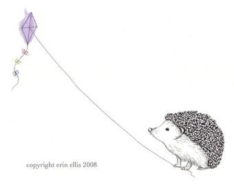 Hedgehog 5x7 Print